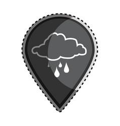 Sticker monochrome mark icon pointer gps with vector
