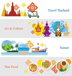 Thailand Travel Banner Concept Set vector image