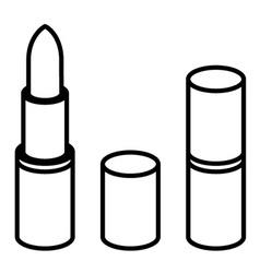 3d lipstick black line symbol vector