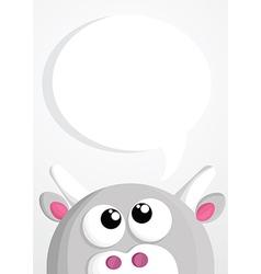 Animal thinking vector