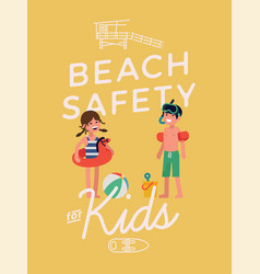 Beack safety for kids poster template vector