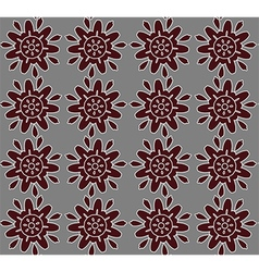 Brown abstract lace flowers on the gray vector