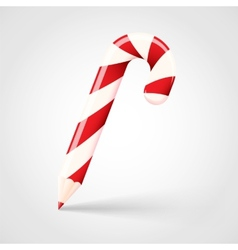 Candy Cane Pencil Abstract Christmas Concept vector