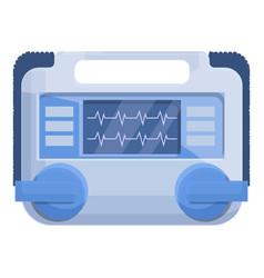 Care defibrillator icon cartoon style vector