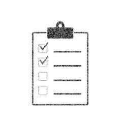 checklist sign black icon vector image