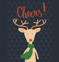 cheers deer vector image