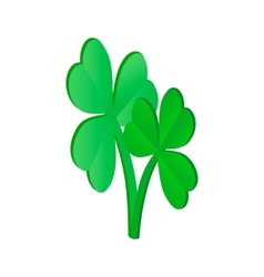 Clovers leaves isometric 3d icon vector