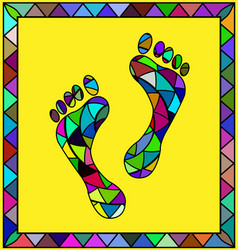 Colored image of footprint vector