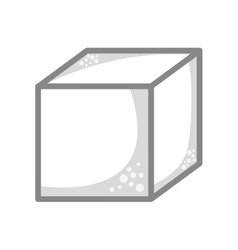 Cube sugar isolated icon design vector
