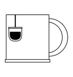 Cup tea bag vector
