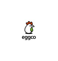 Egg and eco logo design concept vector