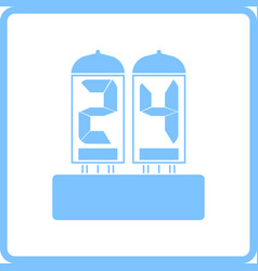 Electric numeral lamp icon vector