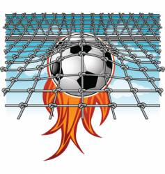 Flaming goal vector