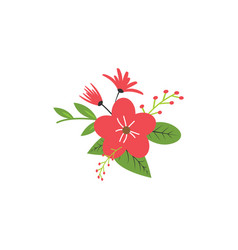floral nature icon decorative element design vector image