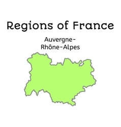 France administrative map of auvergne-rhone-alpes vector