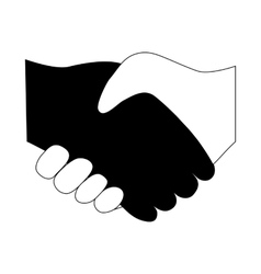 Handshake between two people entering vector