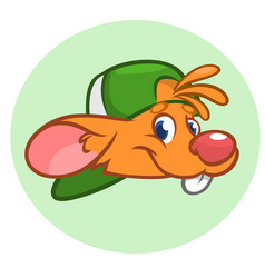 happy cartoon mouse head vector image