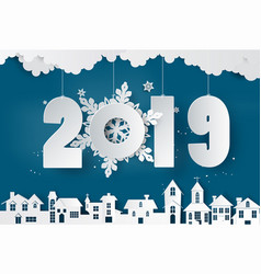 happy new year and winter season vector image