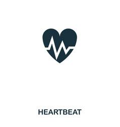 heartbeat icon line style icon design ui vector image