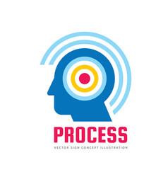 human head - logo template concept vector image