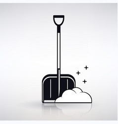 Icon shovel for snow cleaning vector