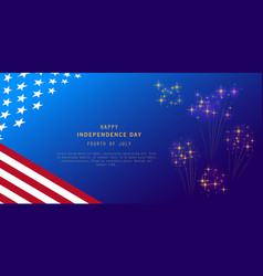Independence day background with fireworks and vector