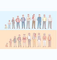 Life cycle humans set concept vector