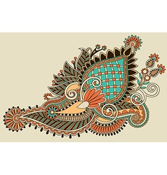 line art ornate flower design vector image