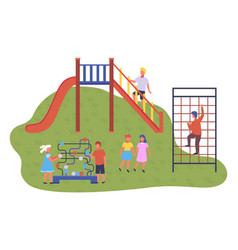 modern kindergarten various training ground and vector image
