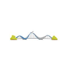 modern suspension metal bridge urban transport vector image