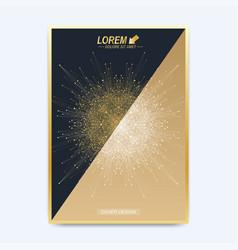 Modern template for brochure leaflet vector