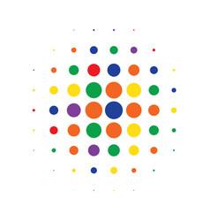 multicolor round halftone pattern design vector image
