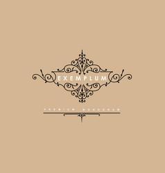 Premium victorian monogram templates to create vector