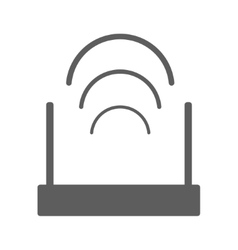Router icon solid logo vector