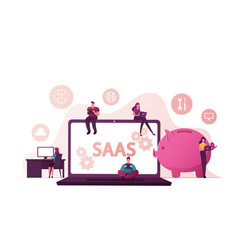 Saas software as a service cloud application vector