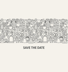 Save the date banner concept vector