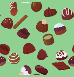 Seamless pattern with chocolate candies vector