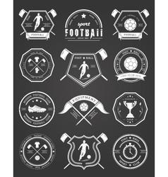 Set of Football Badge vector image