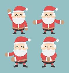 Set of Santa Claus flat design vector image