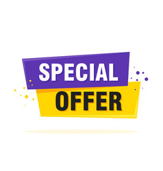 special offer sale tag discount symbol retail vector image