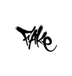 Sprayed fake font graffiti with overspray in black vector
