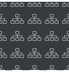 Straight black scheme pattern vector image