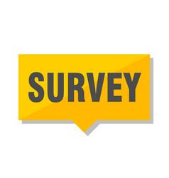 Survey price tag vector