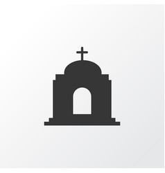 temple icon symbol premium quality isolated vector image