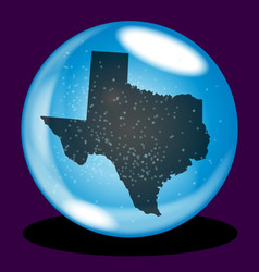 Texas state crystal ball map vector