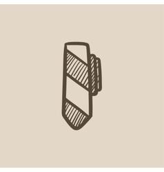 Tie sketch icon vector