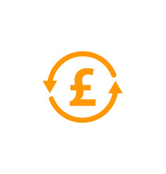 Transfer stock market business logo icon design vector