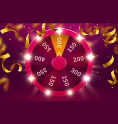 wheel luck or fortune gamble chance leisure vector image