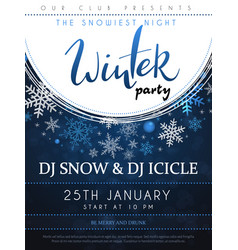 winter party poster vector image
