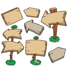 wooden boards collection vector image